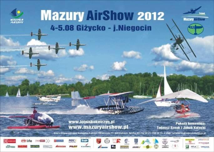 Plakat reklamowy Mazury Air Show 2012