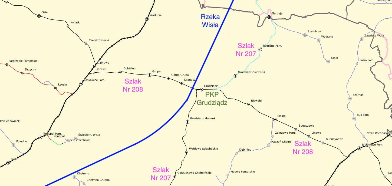 Szlaki kolejowe koło Grudziądza. 2021 rok. Praca Karol Placha Hetman