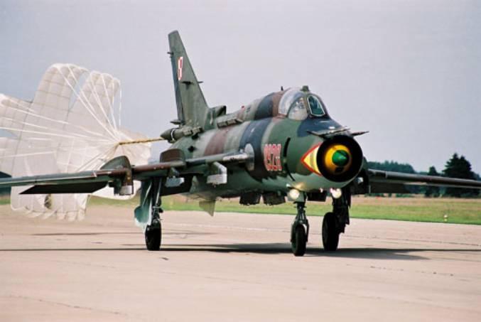 Su-22 na Lotnisku Mirosławiec. 1995r.