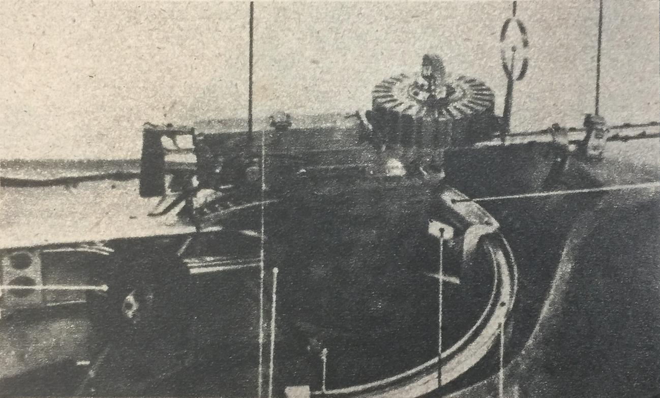 RWD-14, LWS Czapla. Karabin maszynowy obserwatora. 1938 rok. Zdjęcie z instrukcji obsługi