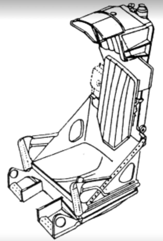 Fotel pilota samolotu MiG-19. Zdjęcie LAC
