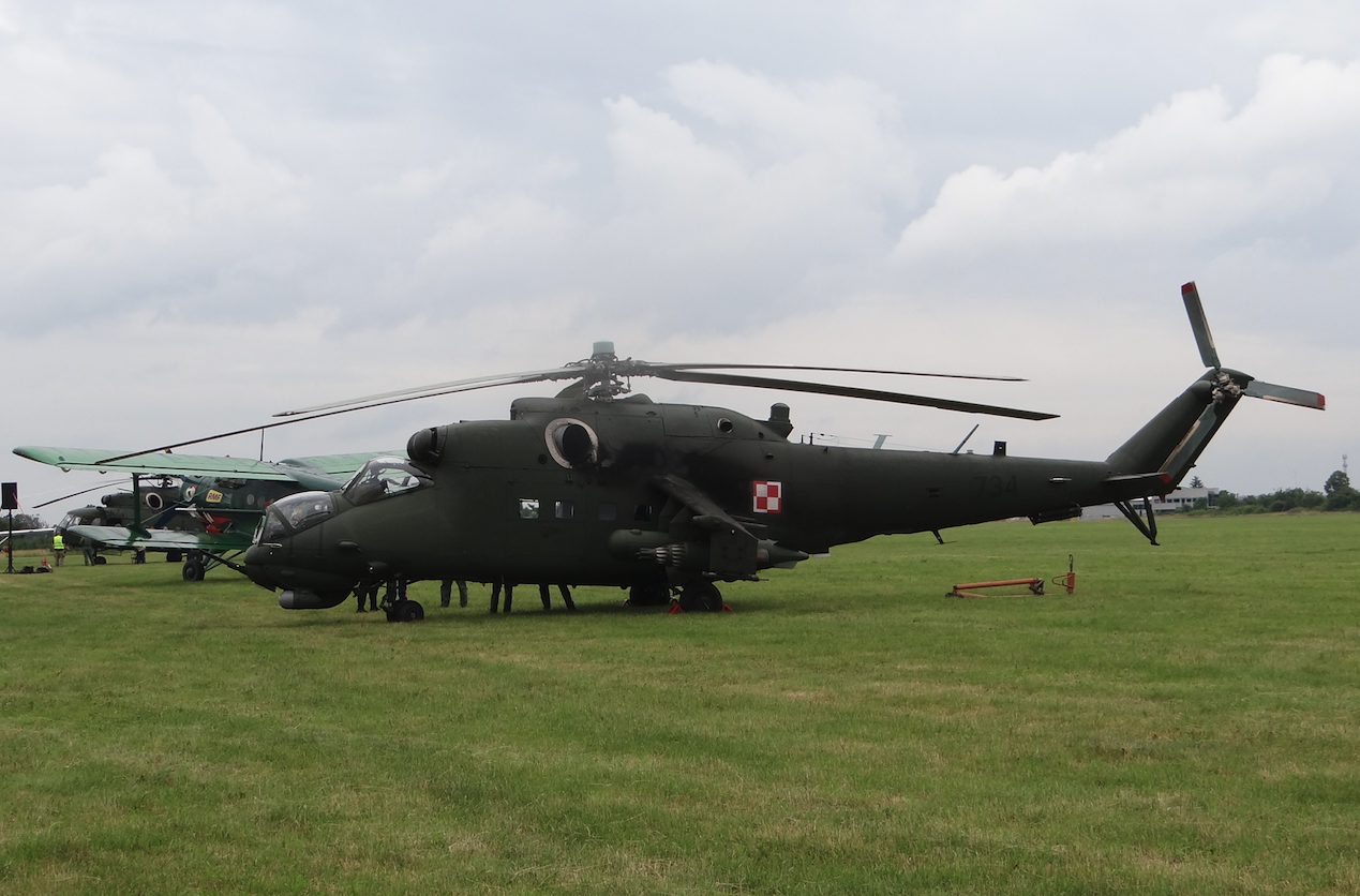 Mil Mi-24 nb 734. 2021 rok. Zdjęcie Karol Placha Hetman
