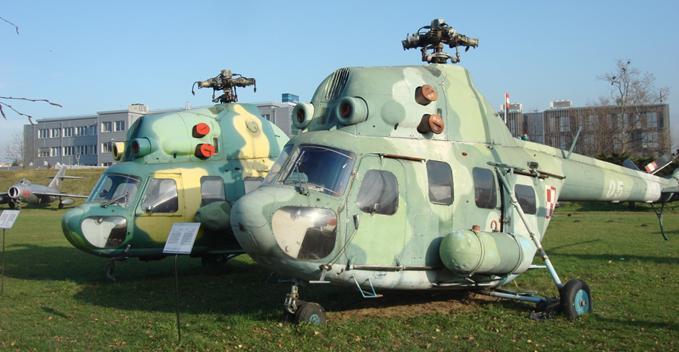 Mi-2 w MLP Czyżyny 2009r. Zdjęcie Karol Placha Hetman