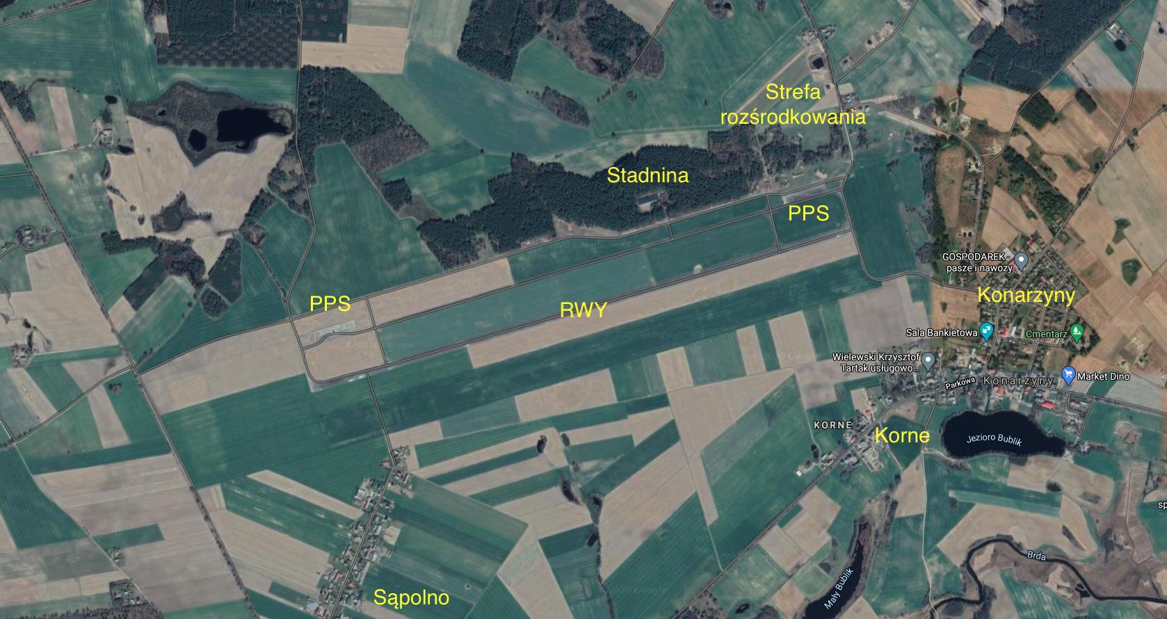 Lotnisko Konarzyny. 2021 rok. Praca Karol Placha Hetman