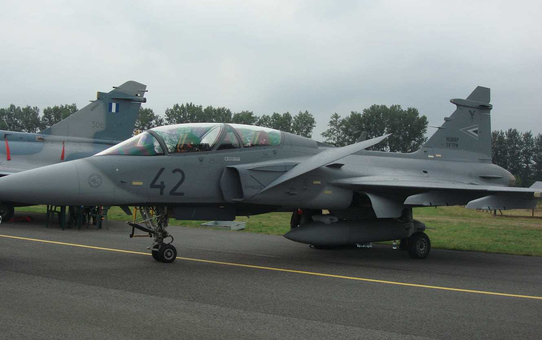 Gripen 39 D nb 42. Węgry. Samolot bez uzbrojenia. 2009 rok. Zdjęcie Karol Placha Hetman