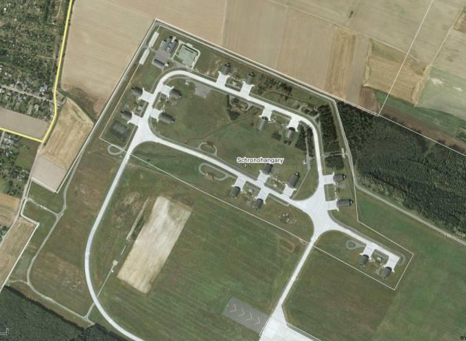 Strefa rozśrodkowania dla samolotów F-16. 2011r.