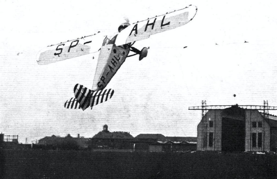 Polski samolot RWD-6. 1932 rok. Zdjęcie muzeum historyczne