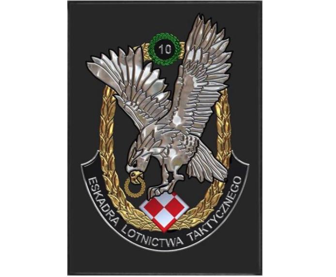 Godło 10 Eskadry Lotnictwa Taktycznego. 2000r.-2010r. Zdjęcie Karol Placha Hetman