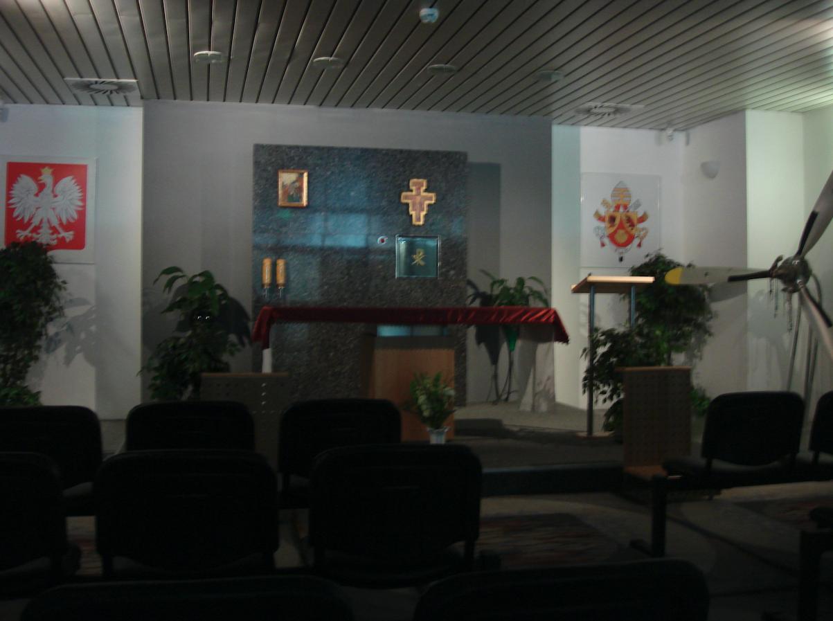 Chapel at the Balice airport. 2009 year. Photo by Karol Placha Hetman