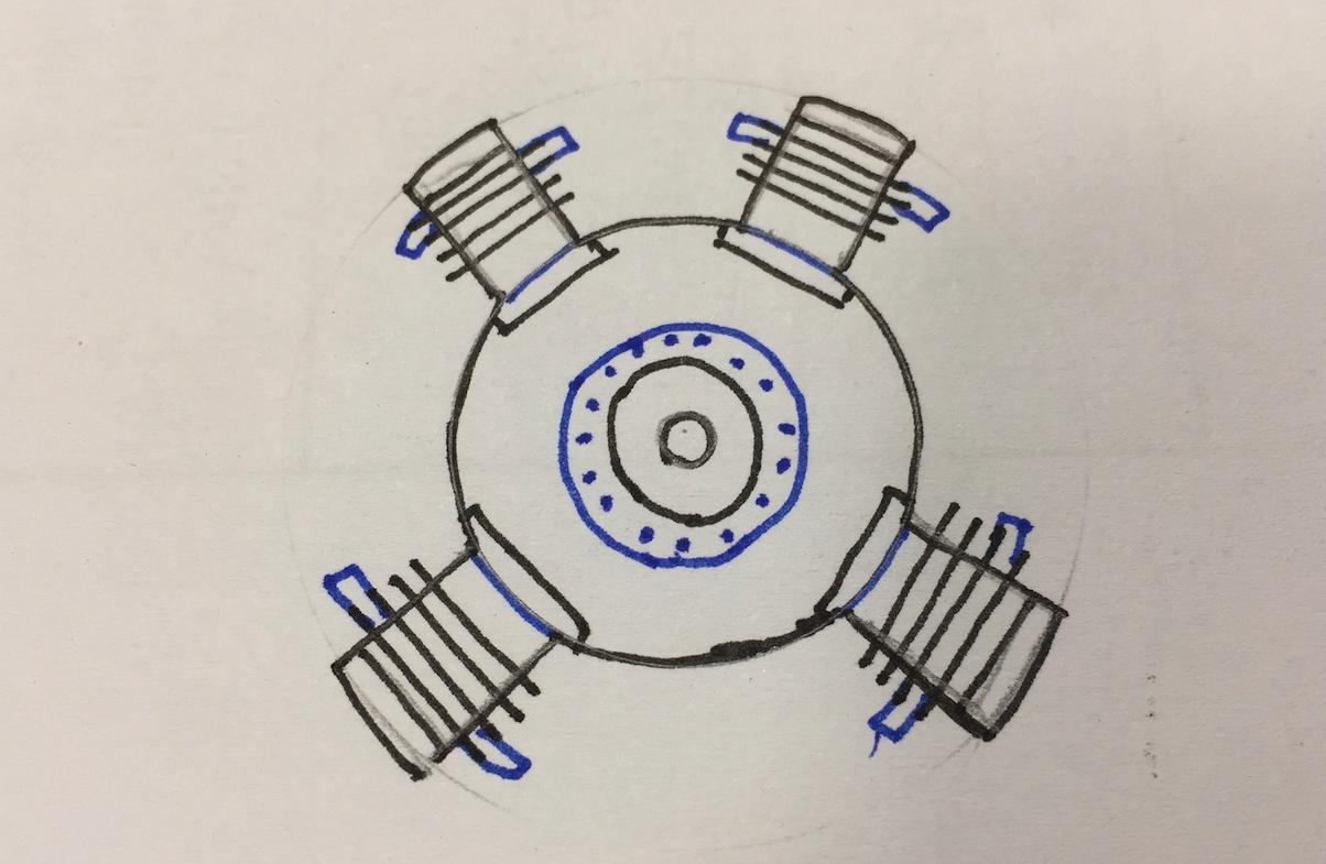 Przykład silnika w układzie X. 2015 rok. Zdjęcie Karol Placha Hetman