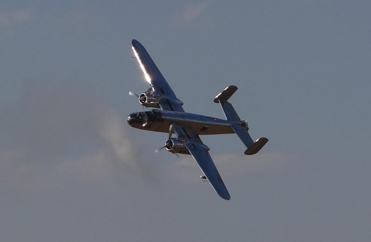 North American B-25 Mitchell. Leszno 2021 year. Photo by Karol Placha Hetman