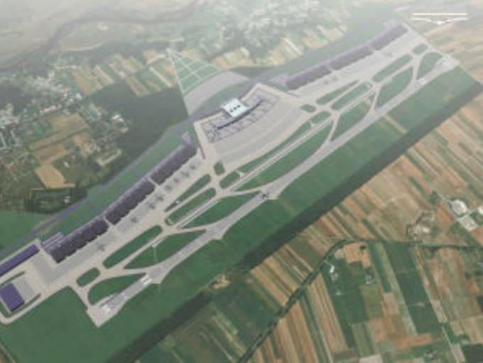 Jeden z projektów Lotniska komercyjnego w Nowym Mieście nad Pilicą. 2010r.