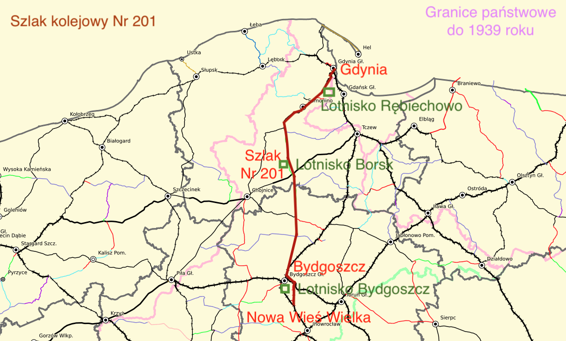 Linia kolejowa Nr 201. 2021 rok. Praca Karol Placha Hetman