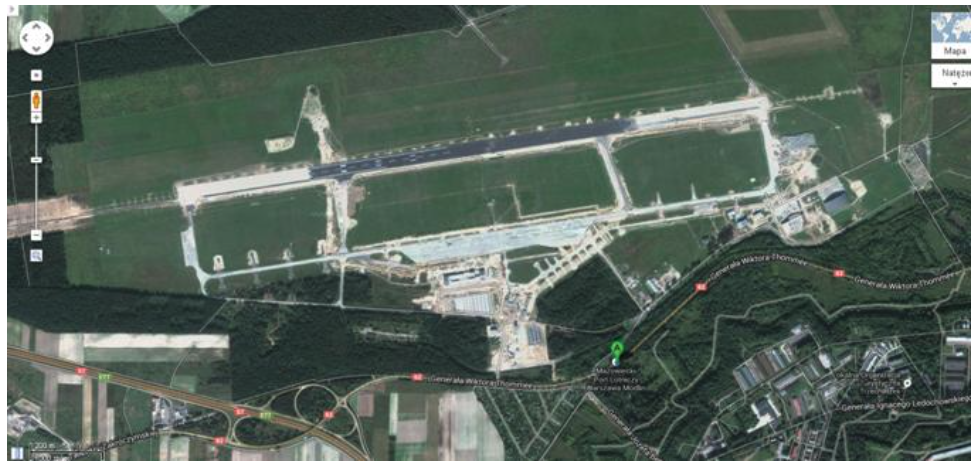 Lotnisko Modlin. 2011 rok. Zdjęcie Google