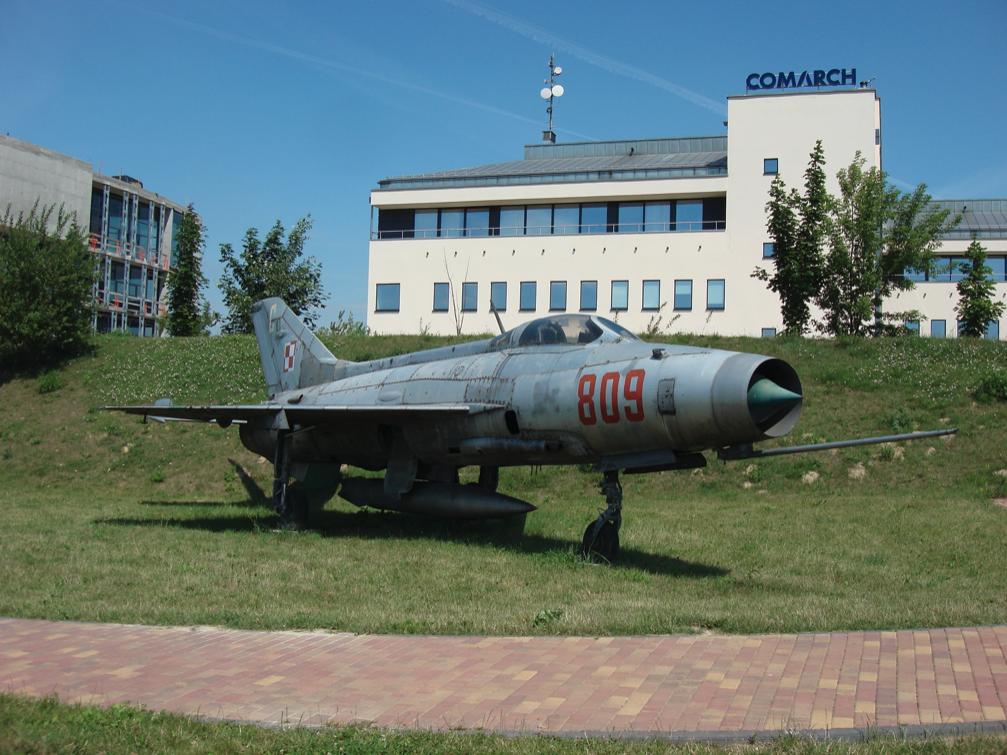 MiG-21 F-13 nb 809. Czyżyny 2007 rok. Zdjęcie Karol Placha Hetman