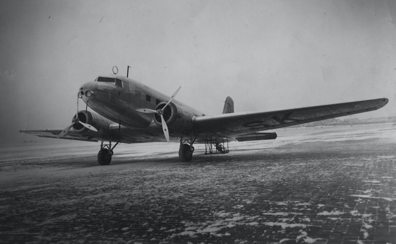 Douglas DC-2 SP-ASK. 1939 rok. Zdjęcie LAC