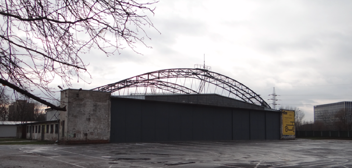 Hangar of PLL LOT from 1931. Gate. North side. Krakow Czyżyny. 2019 year. Photo by Karol Placha Hetman