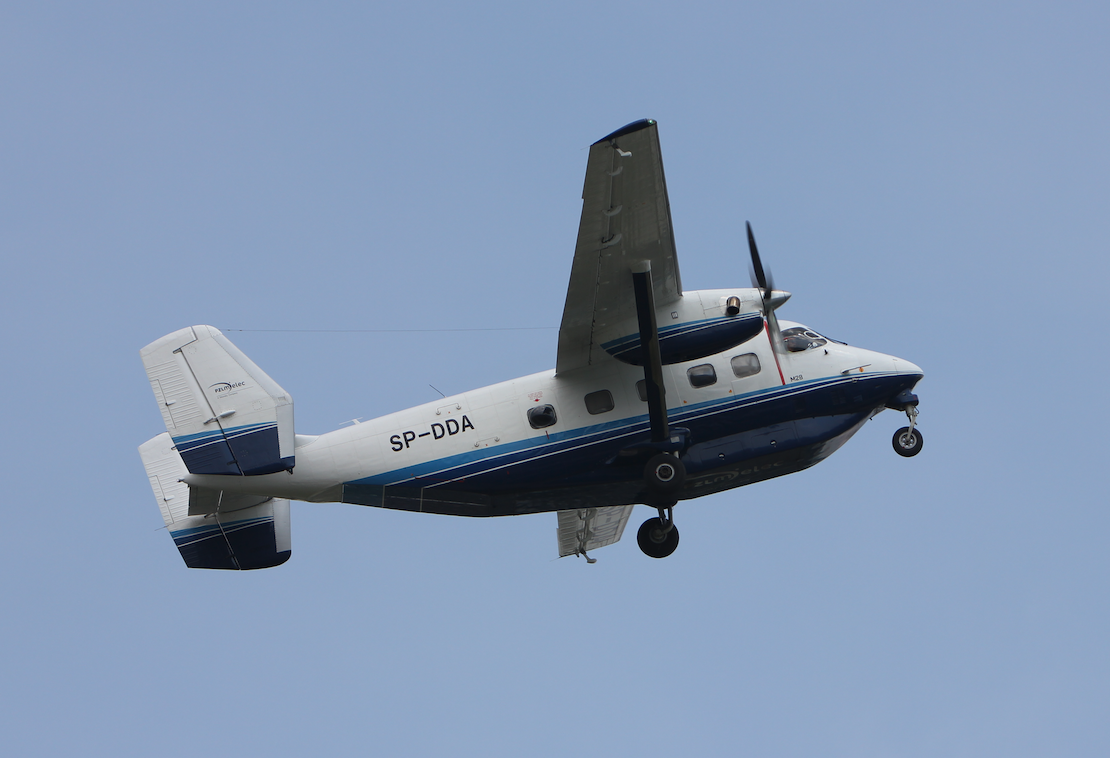 M-28-05 Skytruck rejestracja SP-DDA. 2017 rok. Zdjęcie Waldemar Kiebzak