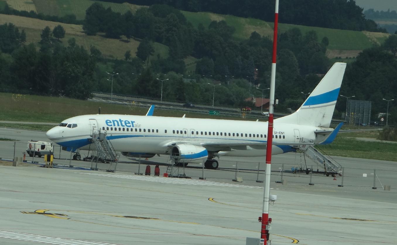 Boeing B-737-800 SP-ENY. 2015 rok. Zdjęcie Karol Placha Hetman