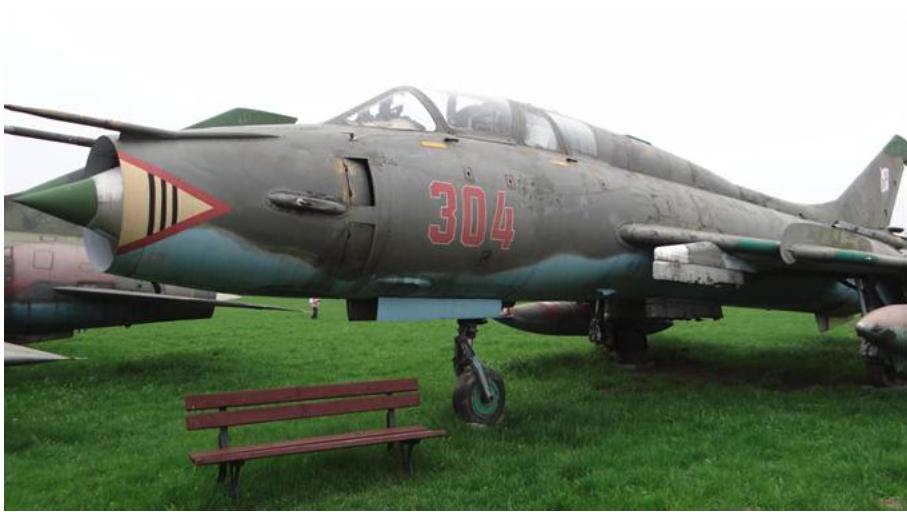 Su-22 UM3K nb 304 Muzeum Lotnictwa Polskiego Czyżyny 2013 rok. Zdjęcie Karol Placha Hetman
