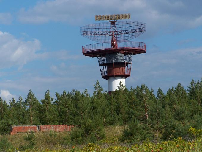 Radiolokator AVIA-W zamontowany około 1982r. 2013r. Zdjęcie Wikimapia