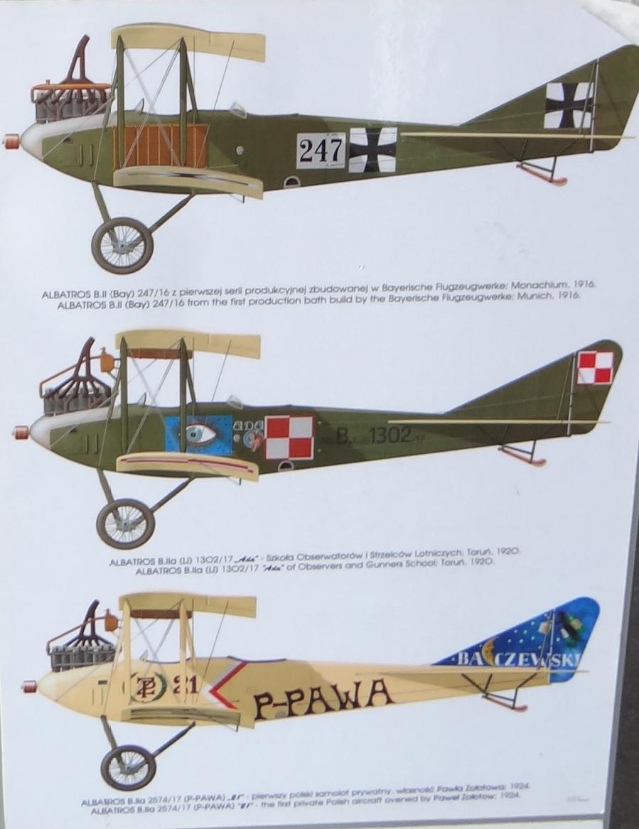 Albatros B.II w Muzeum Lotnictwa Polskiego - Czyżyny 2018 rok. Zdjęcie Karol Placha Hetman