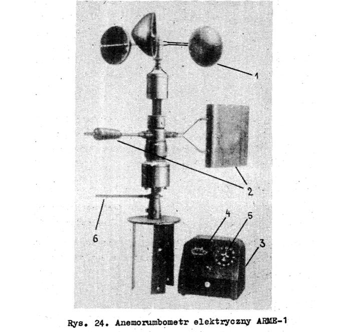 """Wiatromierz ARME-1, fotografia z """"Przyrządy do pomiarów hydrologiczno-meteorologicznych"""""""