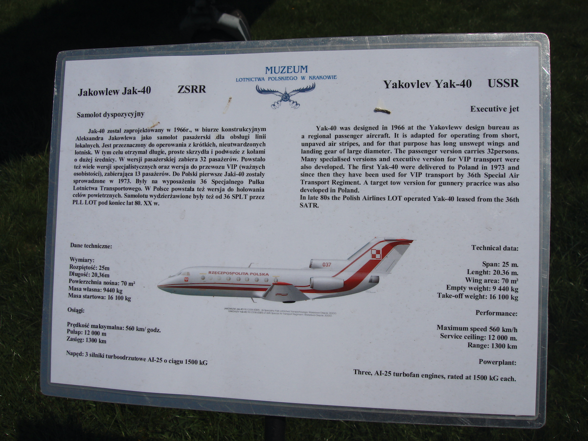 Jak-40 no 9510238 - 37. 2009 year. Photo by Karol Placha Hetman
