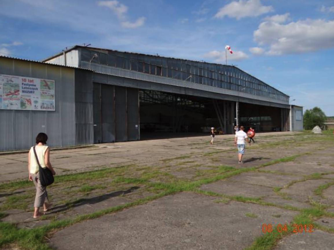 Hangar at the Kętrzyn Wilamowo Airport. 2012 year. Photo by Karol Placha Hetman