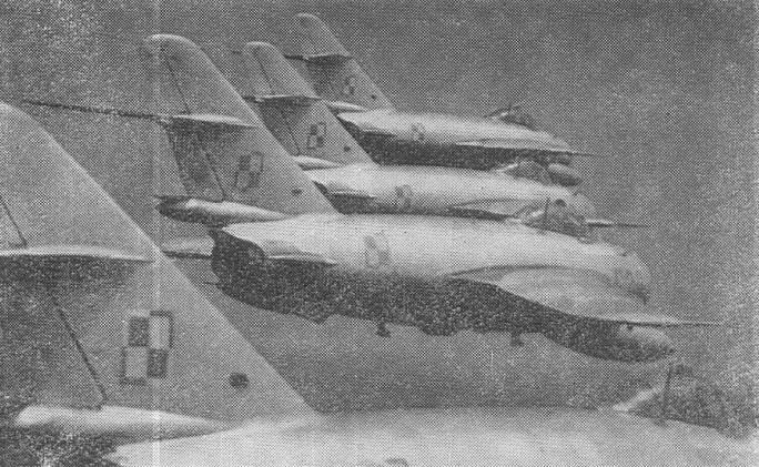 Samoloty 30 PLM-Sz w locie szykiem. 1964r.