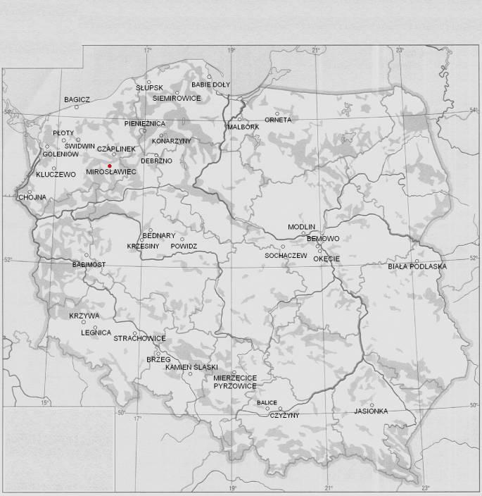 Mirosławiec Lotnisko na mapie Rzeczypospolitej. 2011r.