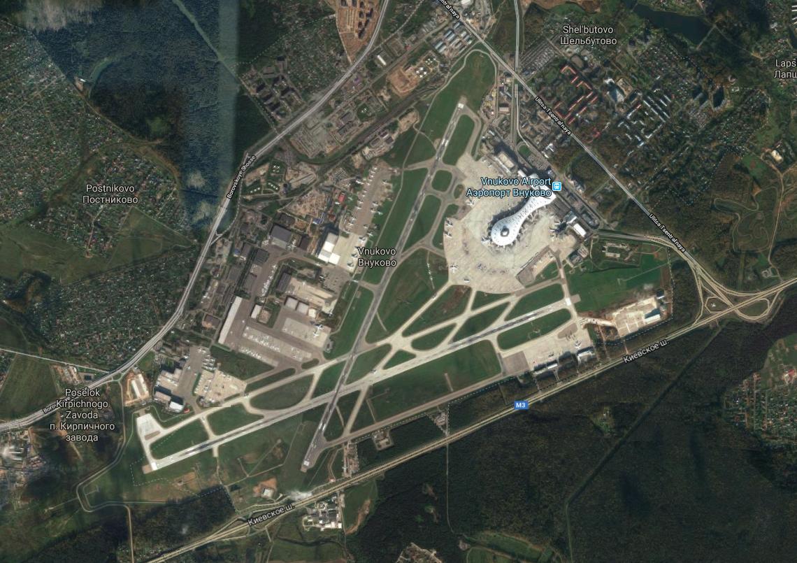 Lotnisko Wnukowo. 2017 rok. Zdjęcie Google