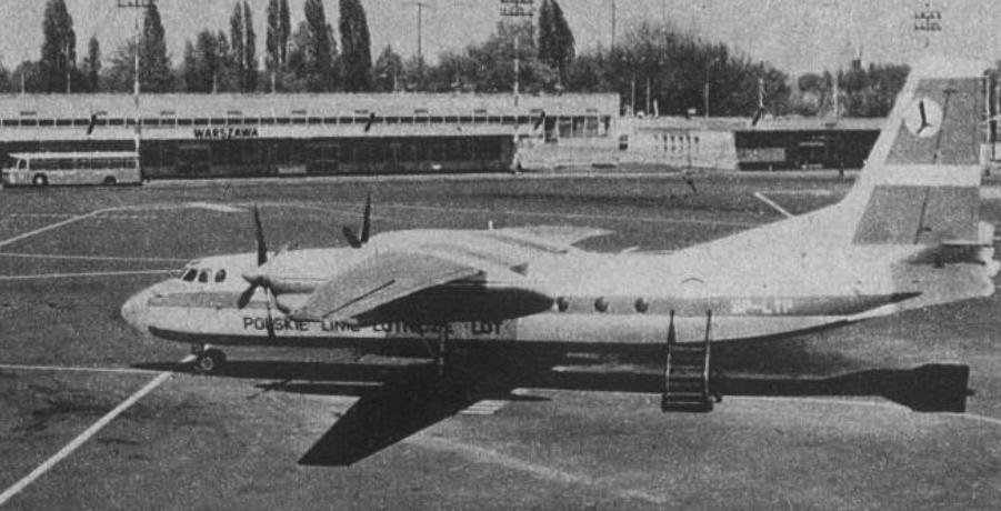 An-24 W SP-LTP. 1970 rok. Zdjęcie LAC
