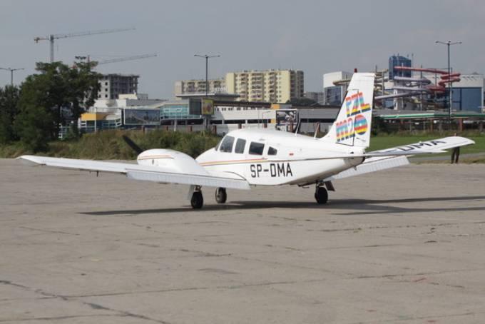 M-20 Mewa rejestracja SP-DMA. Ostatnie lądowanie na Lotnisku Czyżyny w MLP Czyżyny. 2011r.