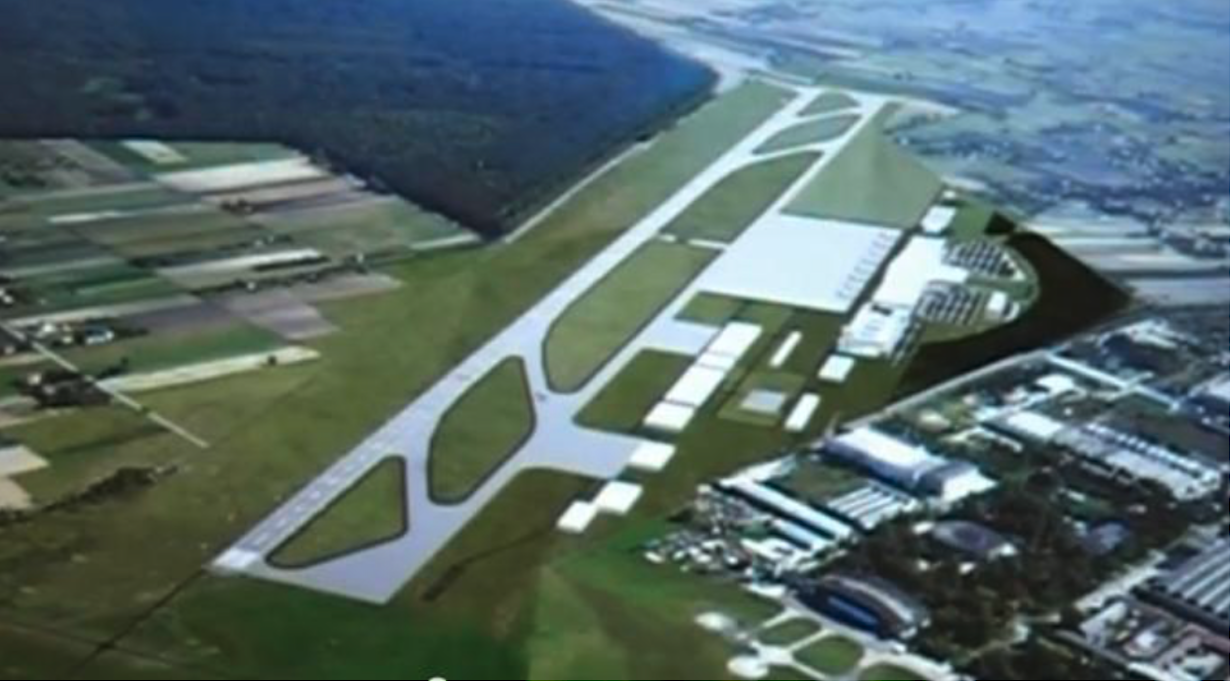 Artistic vision of Lublin-Świdnik Airport. 2010 year. Photo of LAC