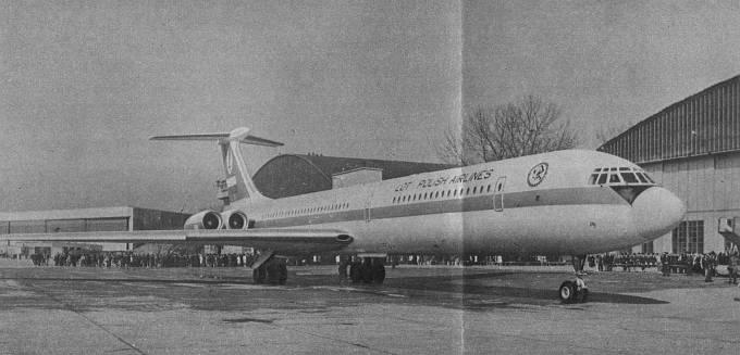 Ił-62 SP-LAA Mikołaj Kopernik. 1973r.