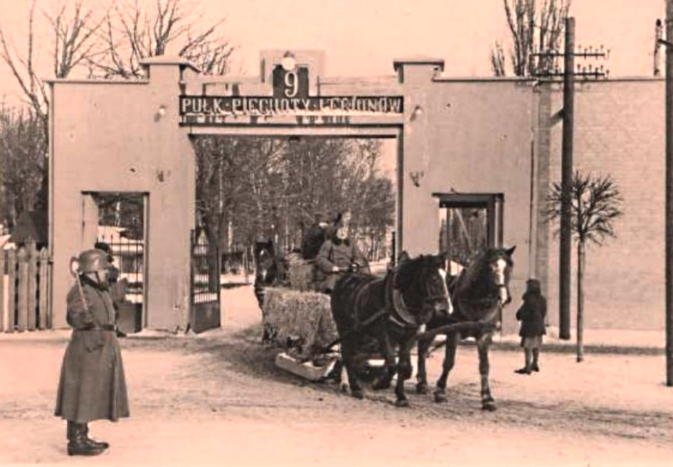 Entrance gate to the barracks. 1939. Photo of LAC