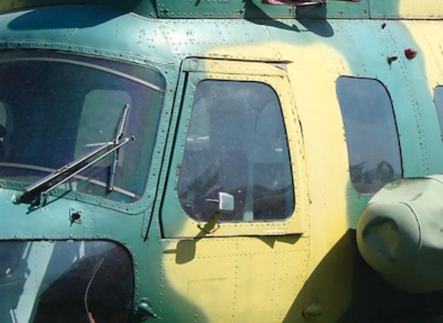 Mi-2. Początkowo pilot miał do dyspozycji odsuwane do tyłu okno. 2008 rok. Zdjęcie Karol Placha Hetman