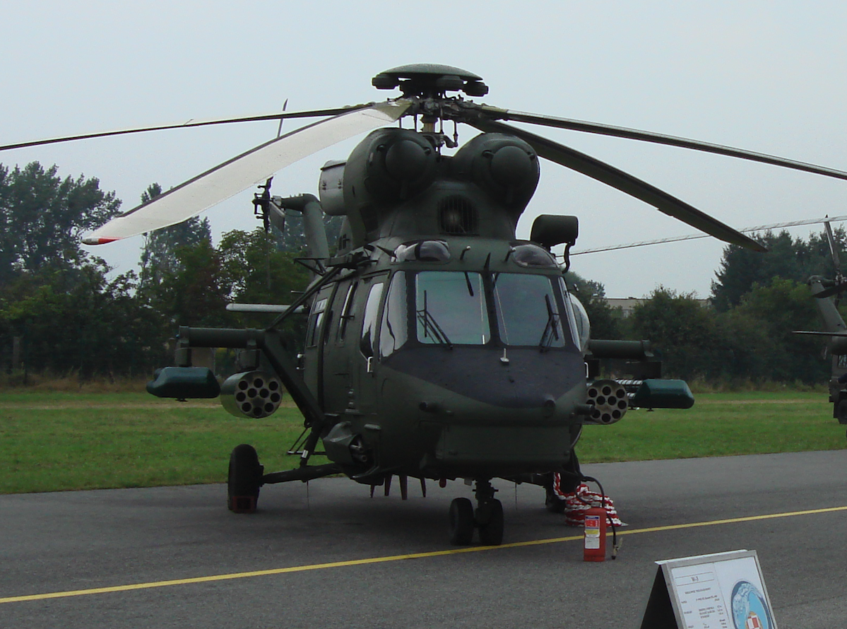 PZL-Sokół W-3 nb 0904 w pierwszej wersji szturmowej. 2009 rok. Zdjęcie Karol Placha Hetman