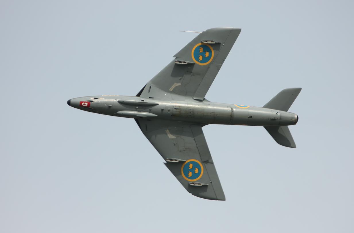 Szwecja. Hawker Hunter. Babie Doły 2019 rok. Zdjęcie Waldemar Kiebzak