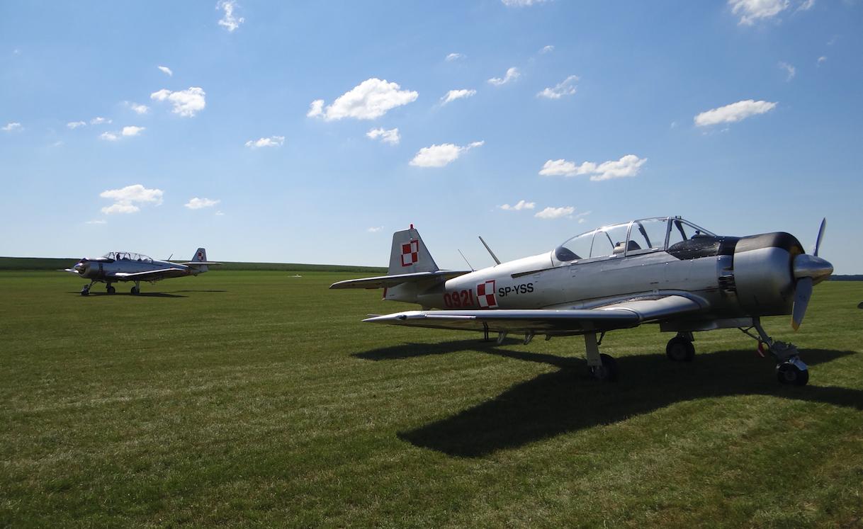 Dwa latające samoloty TS-8 Bies. Rejestracja SP-YBD i SP-YSS. 2017 rok. Zdjęcie Karol Placha Hetman
