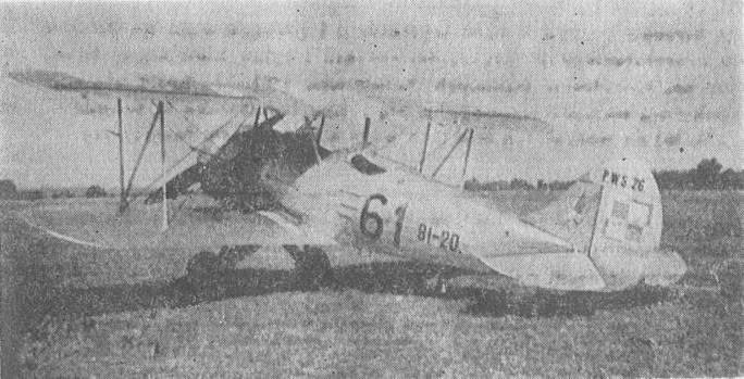 Doskonały Polski samolot szkolno-bojowy PWS-26. Dęblin 1936r.