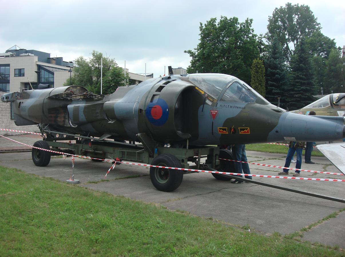 Harrier w którym montowano silnik Pegasus. 2010 rok. Zdjęcie Karol Placha Hetman