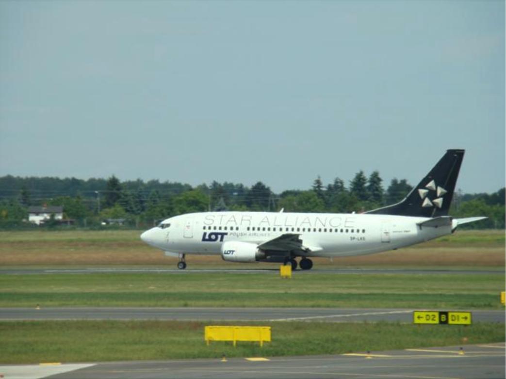 Boeing B.737-55D SP-LKE. Lotnisko Ławica. 2012 rok. Zdjęcie Karol Placha Hetman