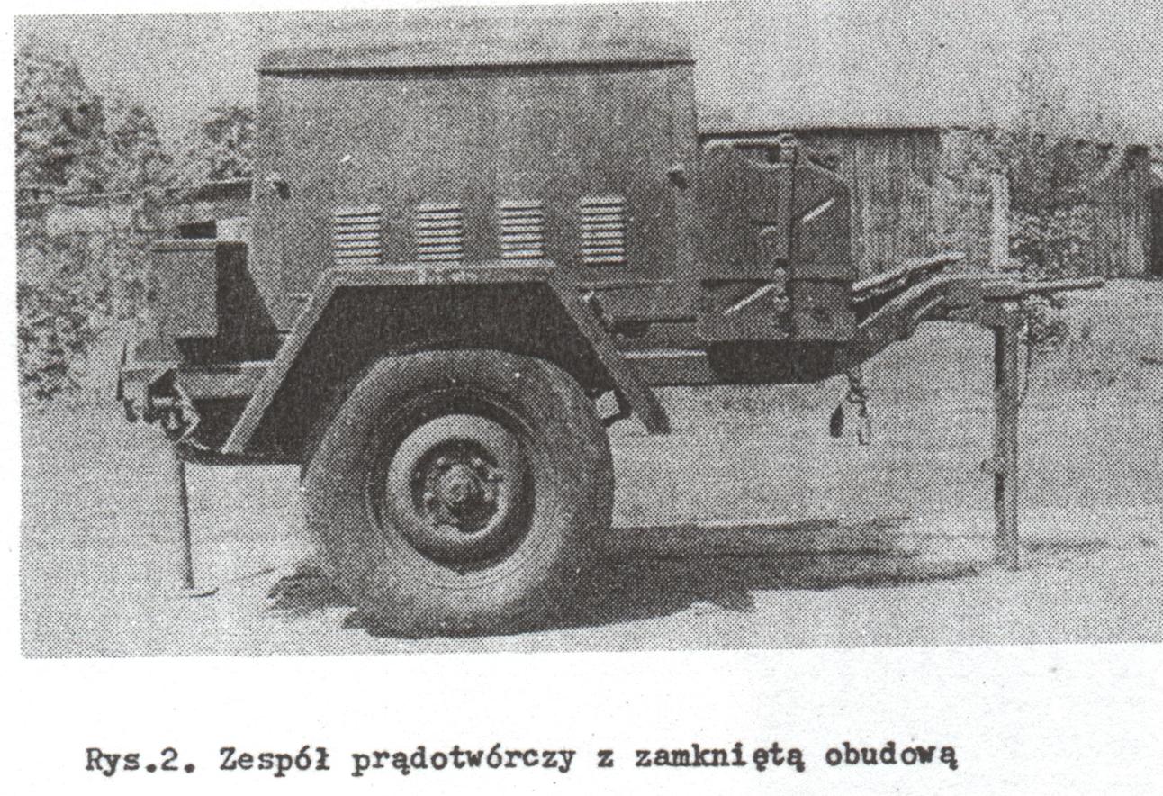 Zespół prądotwórczy PAB-4-1/230. Zdjęcie z instrukcji