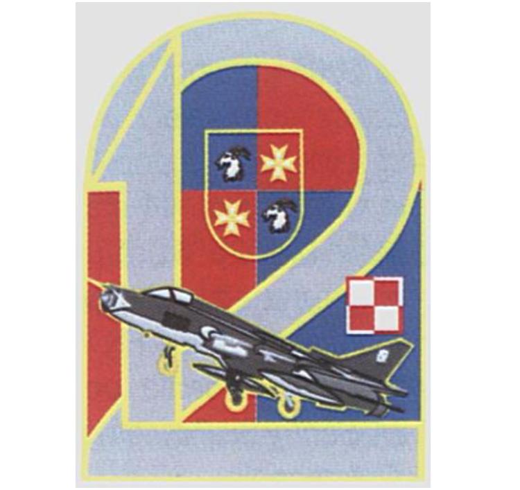 Odznaka pamiątkowa 12 Bazy Lotniczej. 2008 rok.