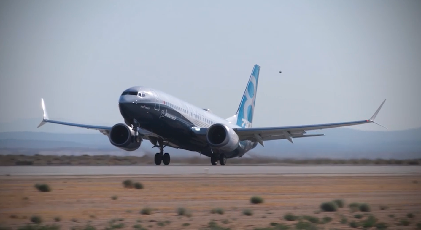 Boeing B.737 MAX 8 No. 1A001, flight 29 January 2016. Photo of Boeing Company