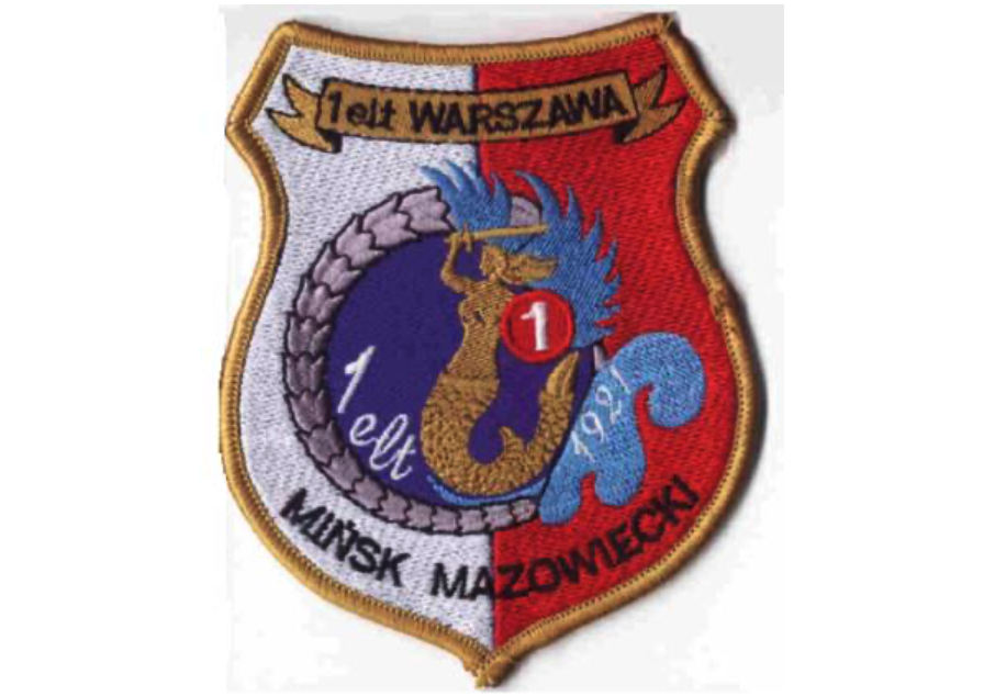 """Emblem of the 1st Tactical Aviation Squadron """"Warsaw"""". Photo by Karol Placha Hetman"""