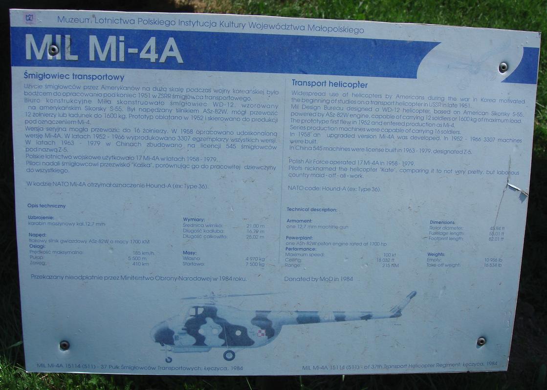 Mi-4 A nb 511. 2009 rok. Zdjęcie Karol Placha Hetman