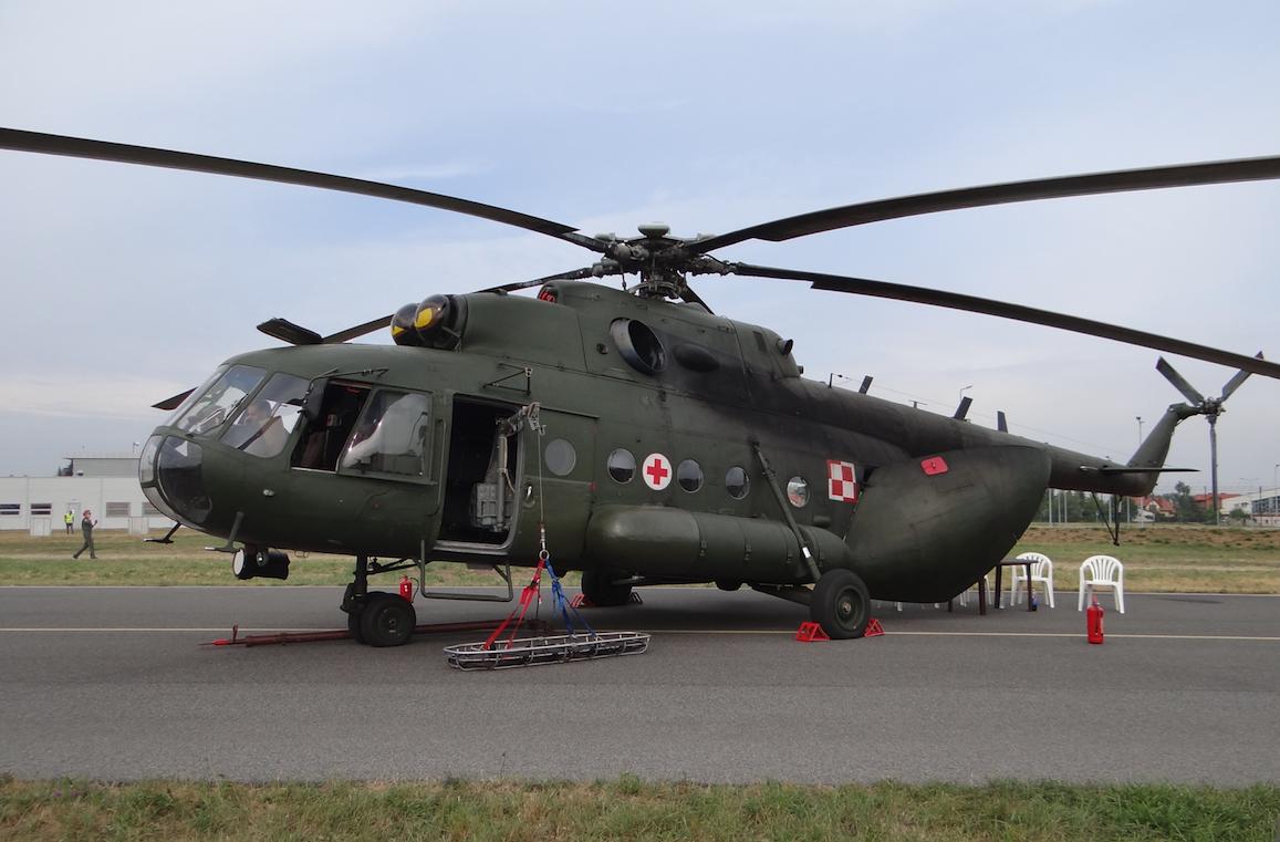 Mi-17 AE (aero ewakuacja) nb 606. 2015 rok. Zdjęcie Karol Placha Hetman